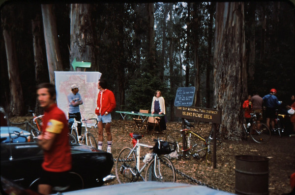 Marvin Roberts, Monte Lee, elizabeth Roberts<br /> Island Picnic area, Tilden, Berkeley<br /> 9-27-75  84-35 - Version 2