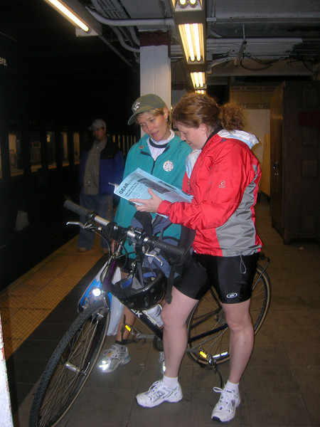 2005 New York MS bike ride, The Aristocrats (bike team)<br /> Heidi Dupret, Linda Siegel