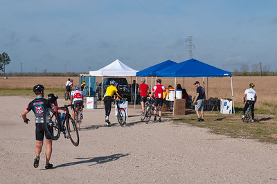 Riders stream in to RS4 for a welcome break and refreshment.