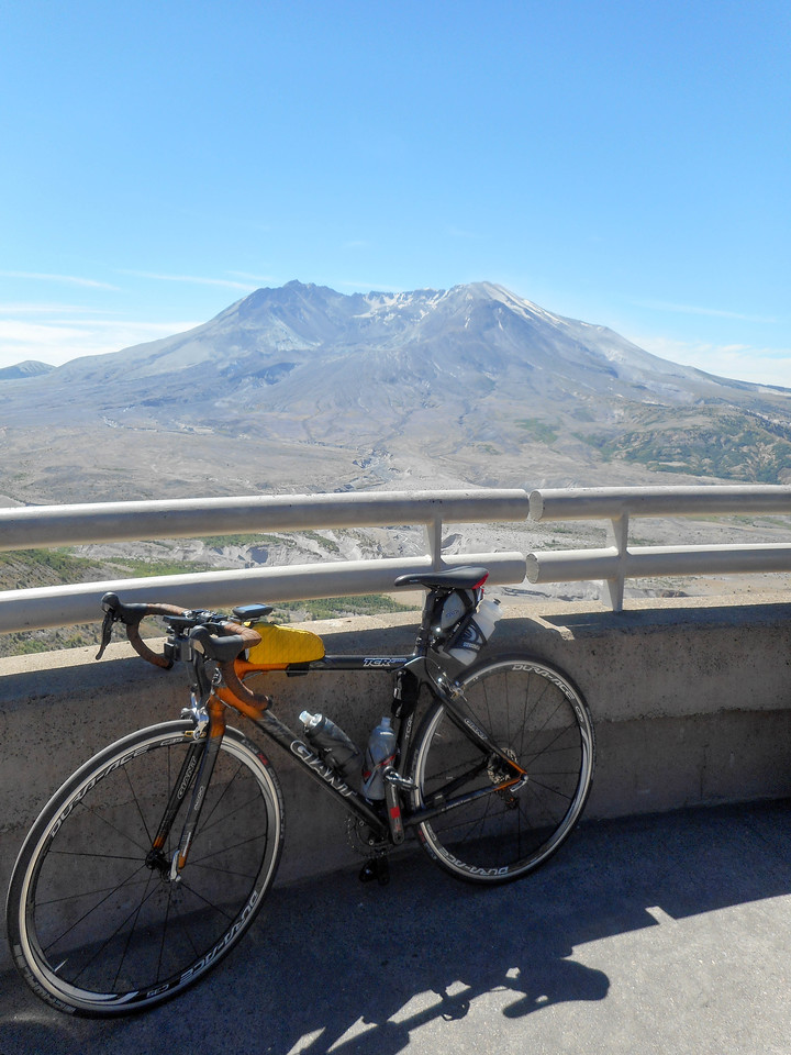 Bike and crater.