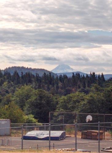 Mt. Hood from the start in Corbett.