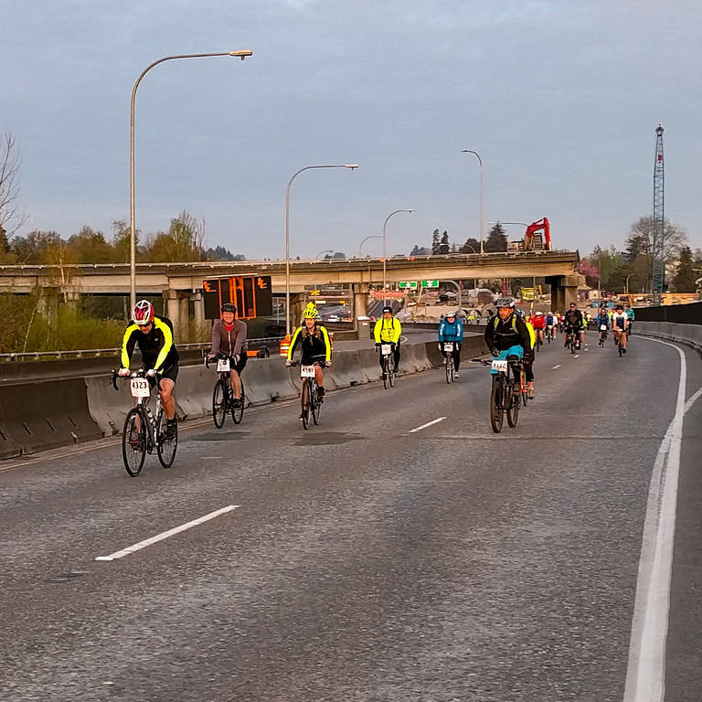 on the leadup to the 520 bridge. Old pavement, note the flyovers that are partially demolished.