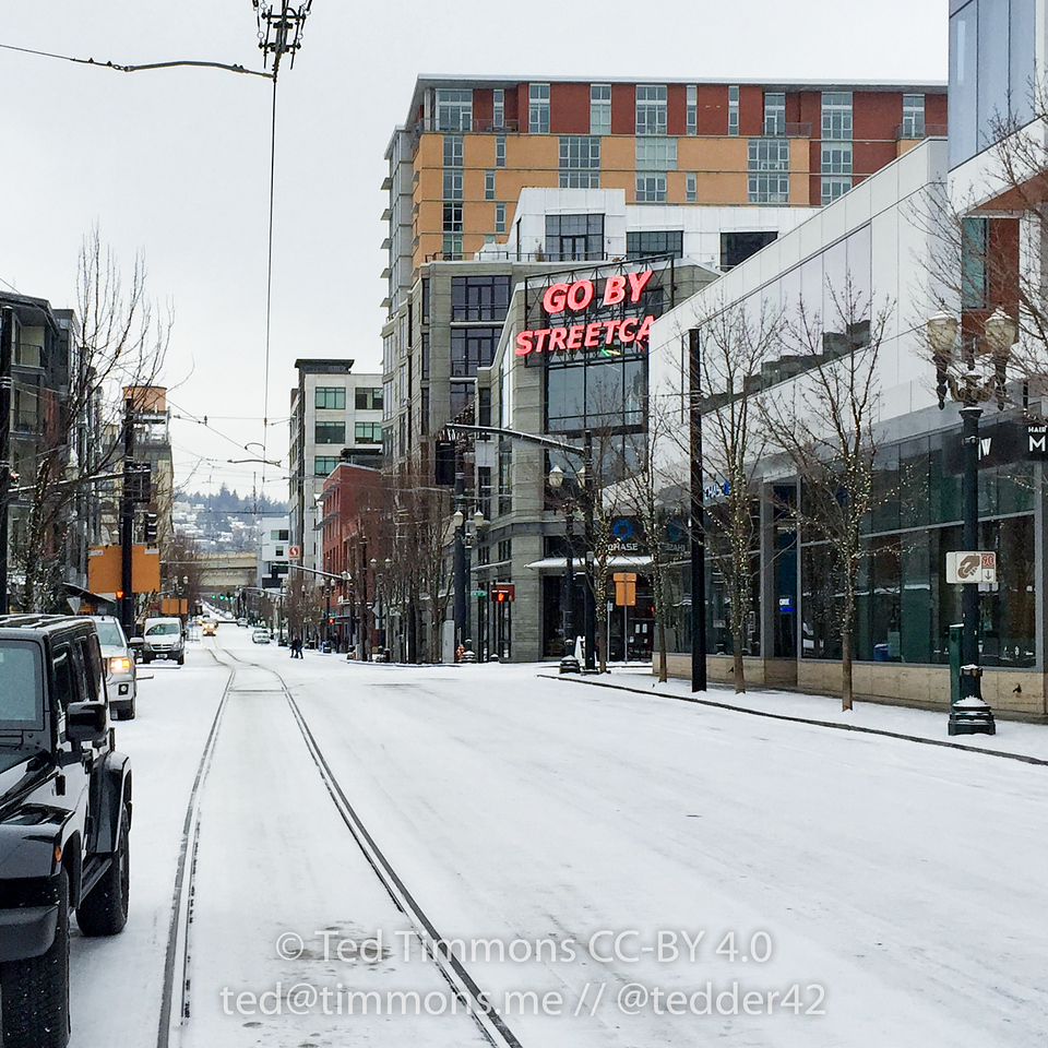 Go by Streetcar on a snow day.