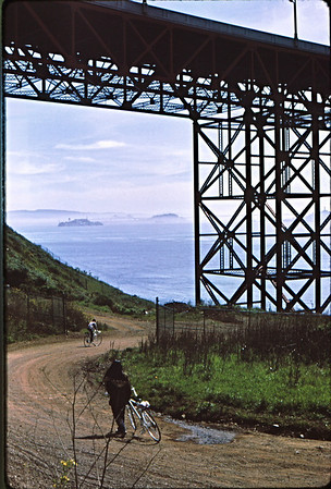 4*Sun, Mar 28, 1971<br /> People: Patty Rose, cyclist<br /> Subject: bridge<br /> Place: Golden Gate<br /> Activity: bike<br /> Comments: I think that is Patty Rose
