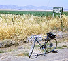 4*Sat, May 22, 1971<br /> People: <br /> Subject: Schwinn Super Sport<br /> Place: Davis<br /> Activity: bike<br /> Comments: One of first rides with GPP.  Dropped. Kickstand, chainguard, cheater brake levers, huge bag