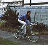 4*Tue, Jan 5, 1971<br /> People: Susan<br /> Subject: Schwinn super sport bike - Pierre's<br /> Place: village<br /> Activity: <br /> Comments: cheater brake levers, 32 lbs, but easy rolling.  Did not have helmets yet.  We got some at Iceland - hocky helmets.