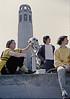4*Sun, Apr 9, 1972<br /> People: Patty Kline, GPP Pres Seiji Kawamura, ?<br /> Subject: Coit tower<br /> Place: SF<br /> Activity: bike<br /> Comments: