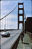 3*Sun, Mar 28, 1971<br /> People: 2 cyclists<br /> Subject: bike path<br /> Place: Golden Gate Bridge<br /> Activity: bike<br /> Comments: