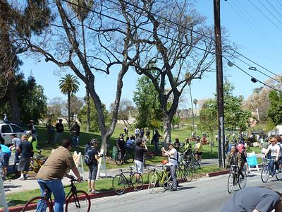 bikes at Hollenbeck Park.