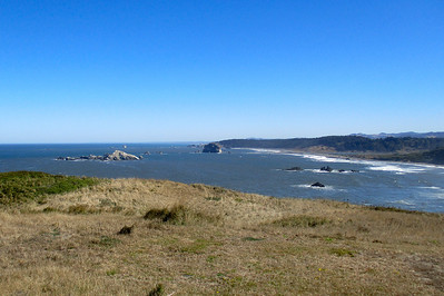 Looking north from Cape Blanco.