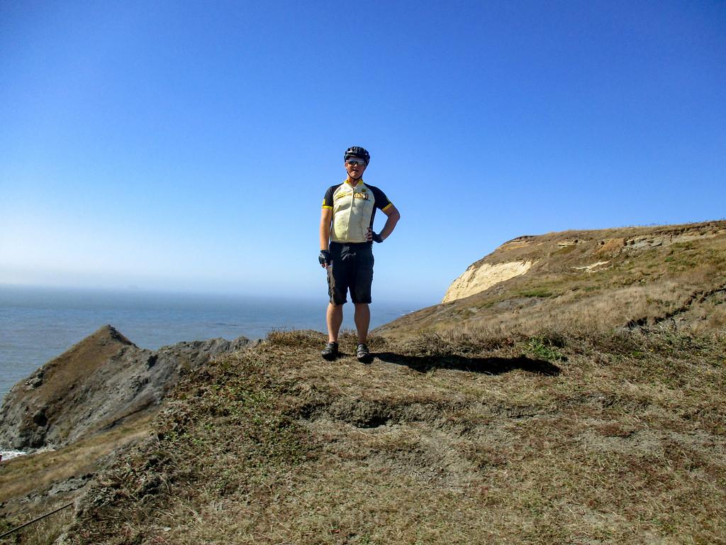 Jeremy on the cliffs of Cape Blanco.