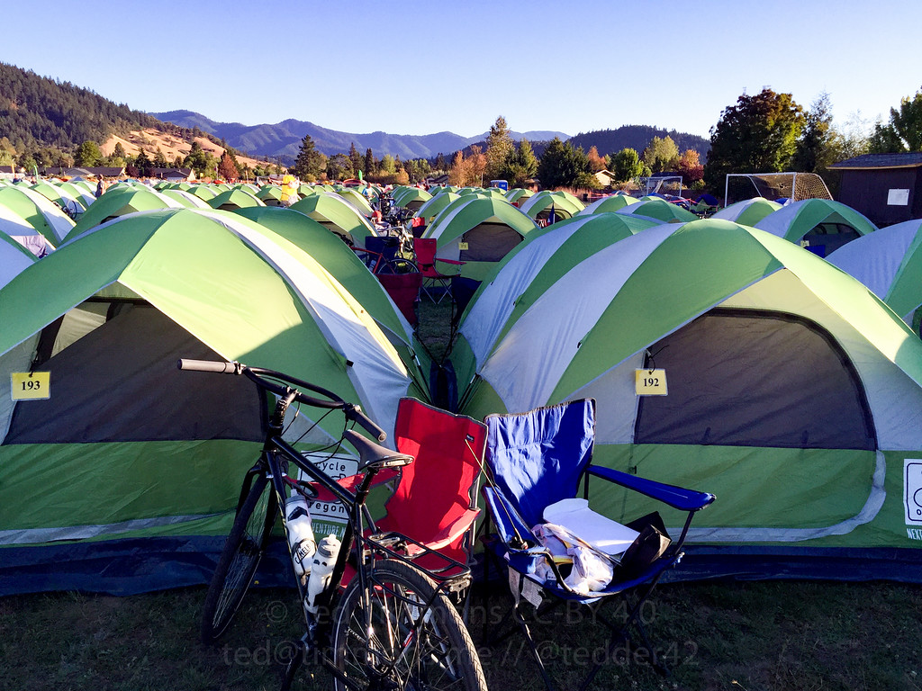 Jeremy and Ted's tents.