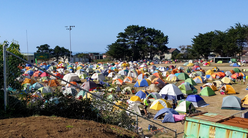 The main tent area in Gold Beach. Didn't find it until the second day.