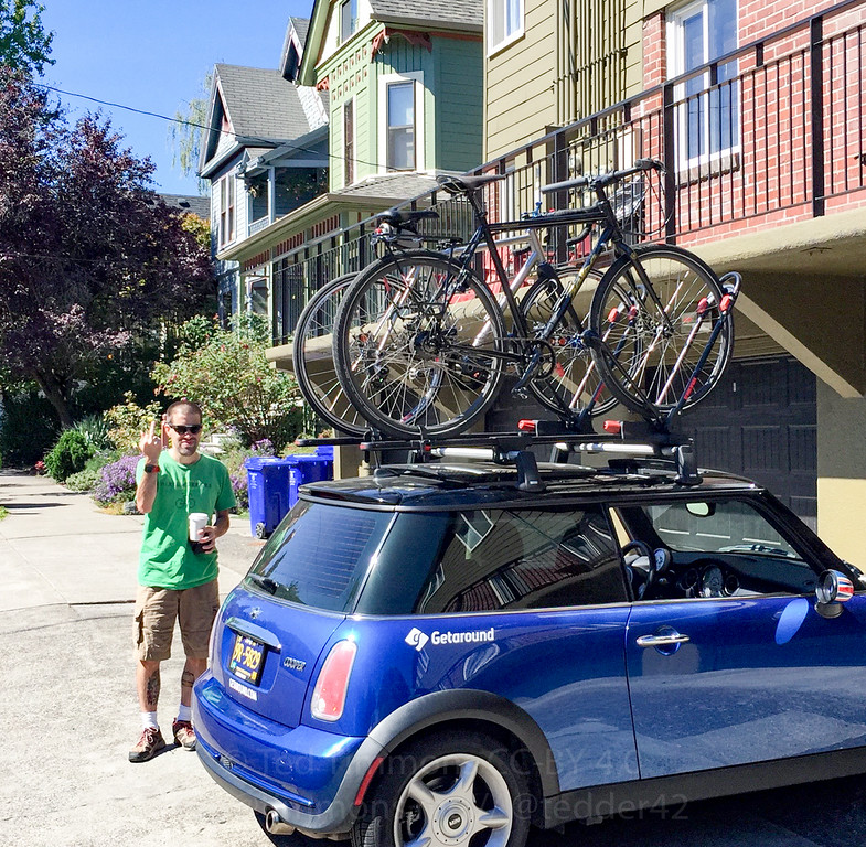 Lucy the Mini is all loaded up. Ted FYYFF.