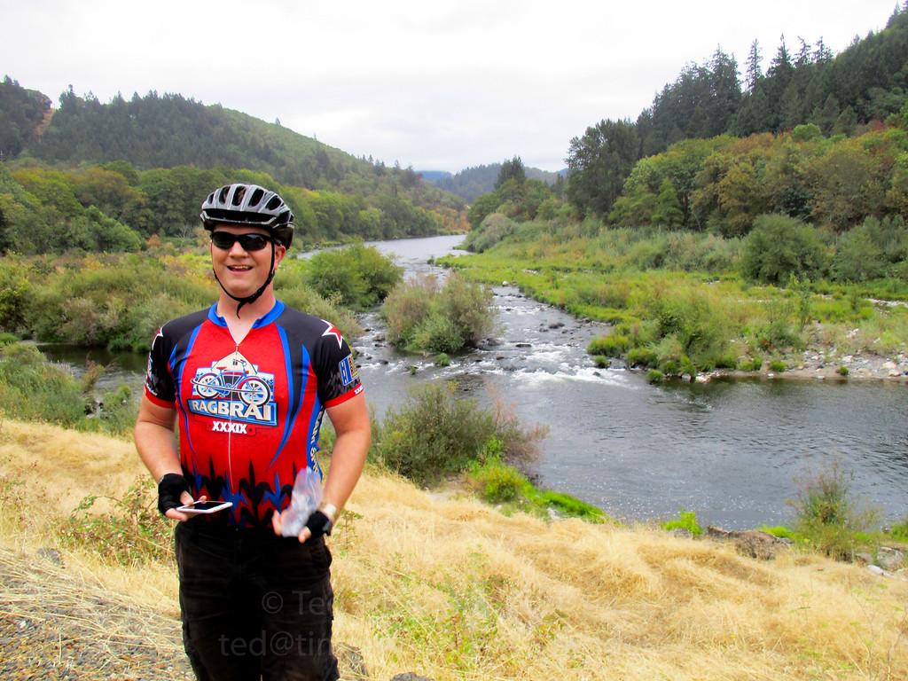 Jeremy along the South Umpqua River.