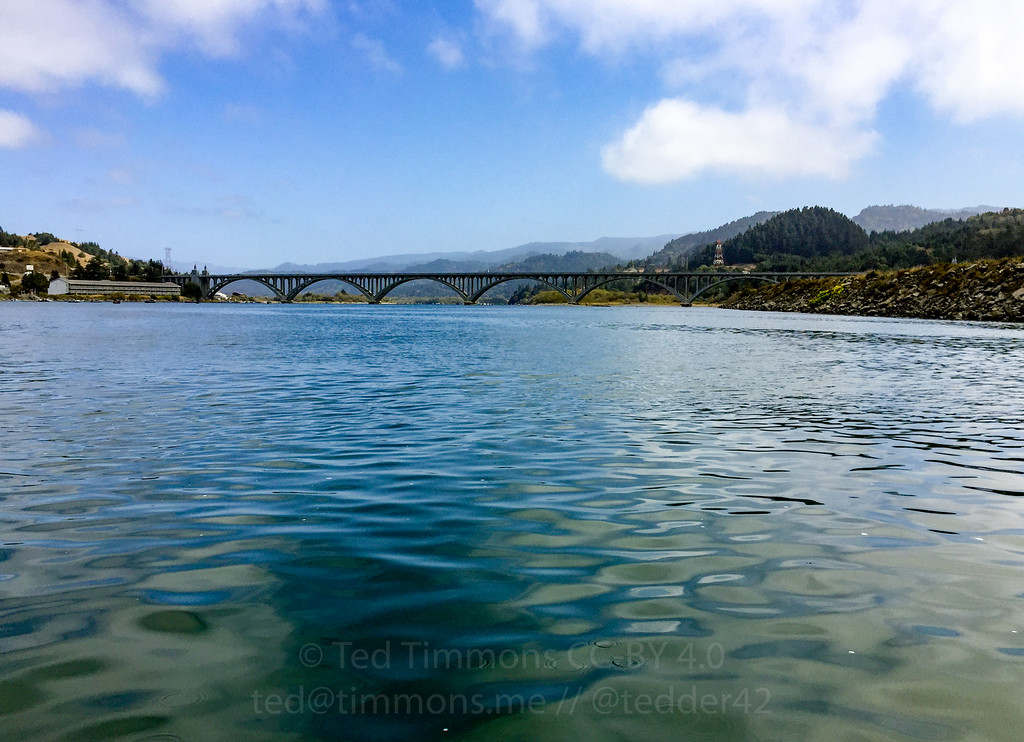 Rogue River Bridge from the jetboat tour.