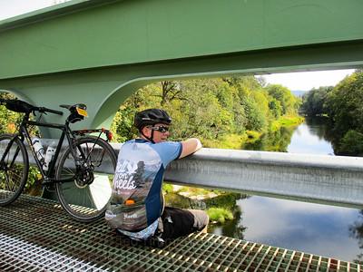 Jeremy, chilling on a bridge.