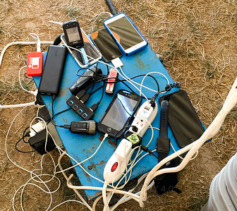 People discovered a power cord, so it became an ad-hoc daytime charging station.