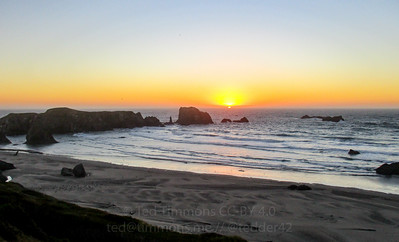 Sunset in Bandon.