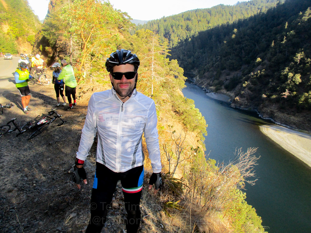 Ted along the Rogue River.