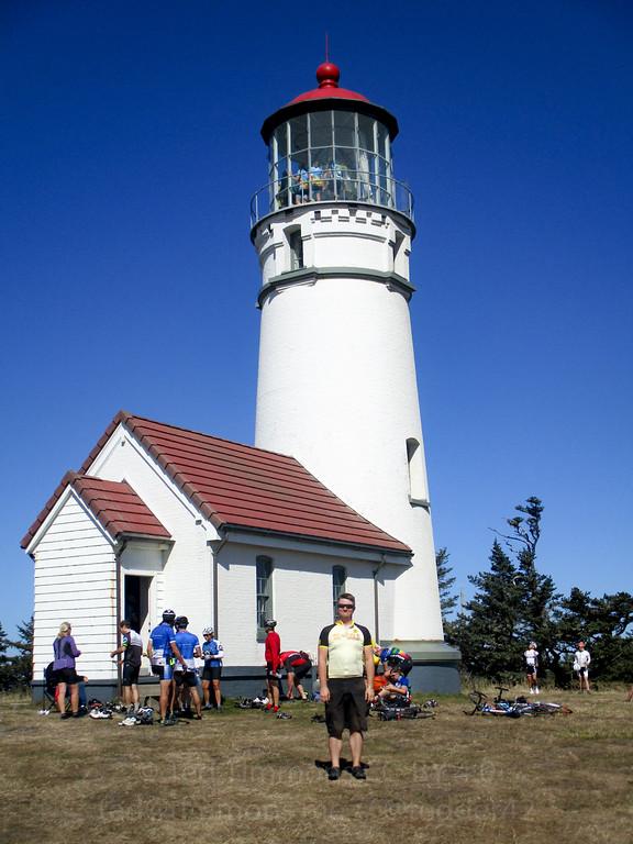 Jeremy at the Cape Blanco lighthouse.