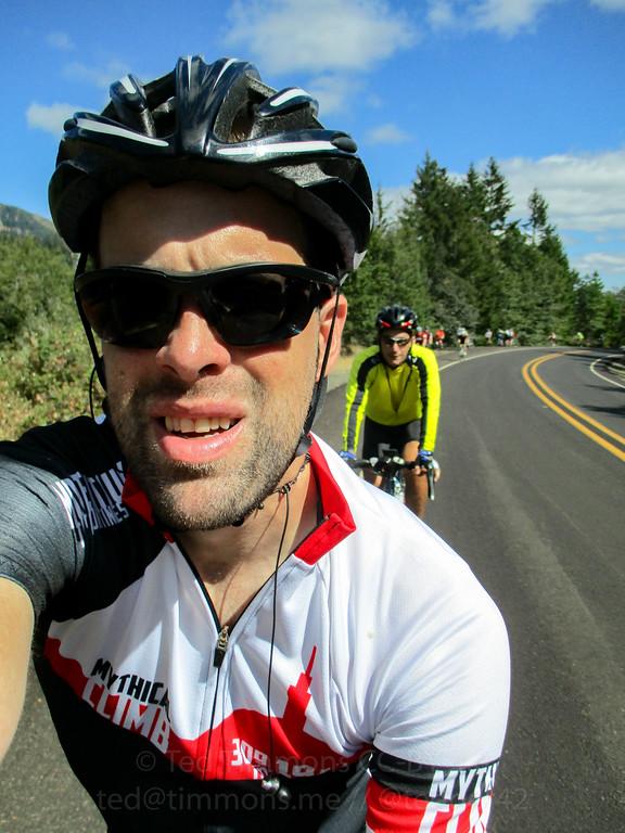 Selfie on the climb.