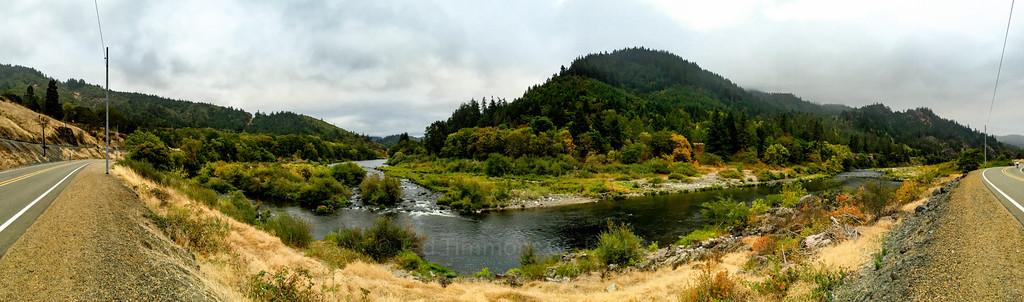 Panorama along the South Umpqua River. So pretty.