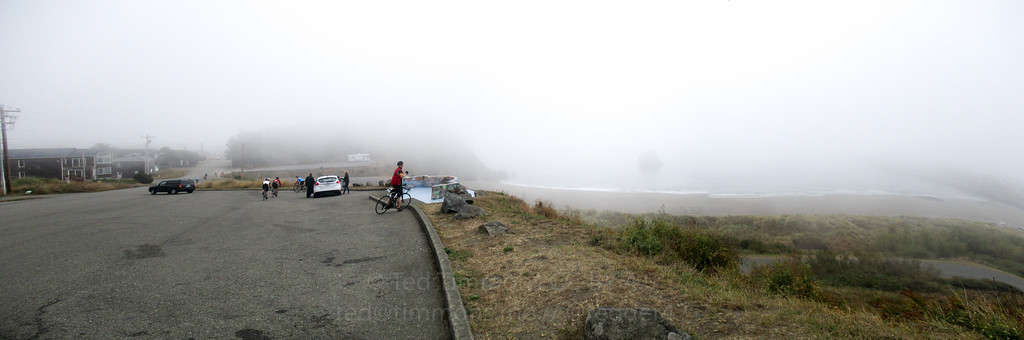 Ocean view at Port Orford. It's out there in the fog.