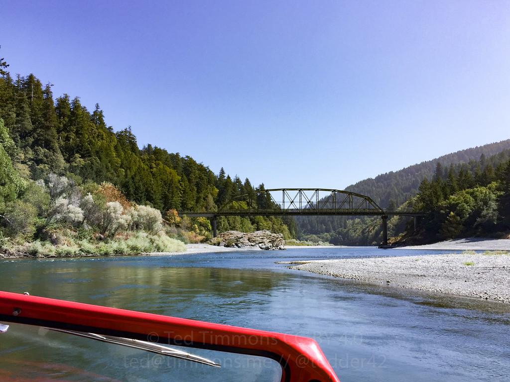 Railway(?) bridge on the Rogue River jetboat tour.