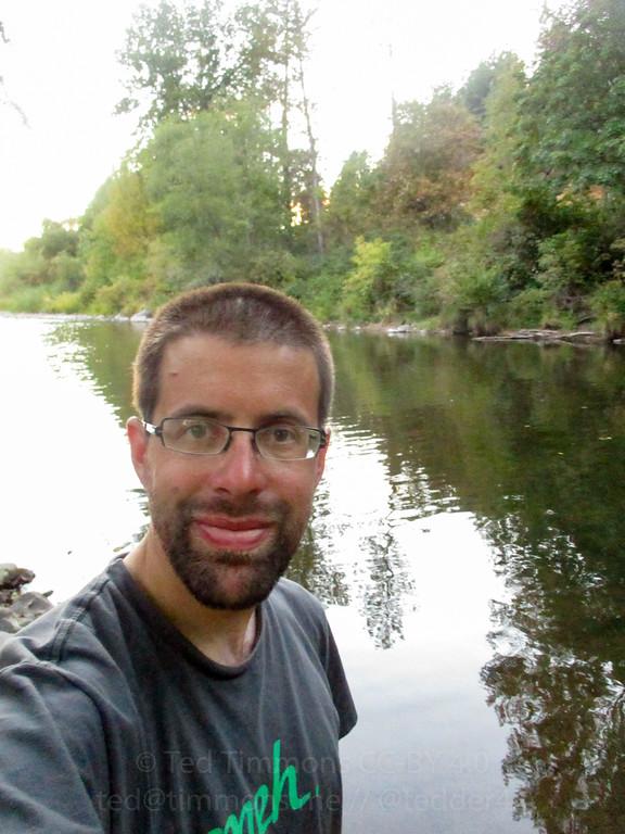 Selfie on Elk Creek.