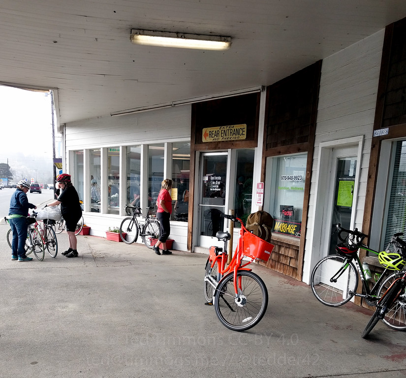 I took a BIKETOWN to pick up laundry in Gold Beach.