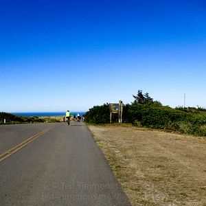 Yay, arriving at Cape Blanco!