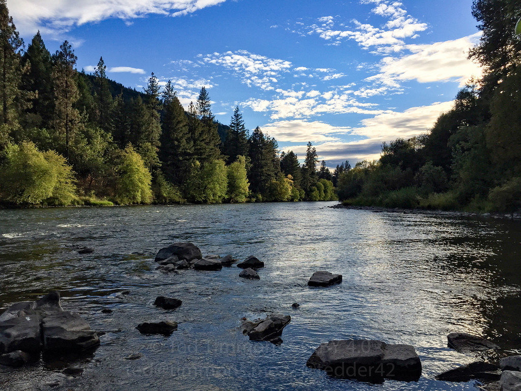Confluence of the Rogue River and Elk Creek.