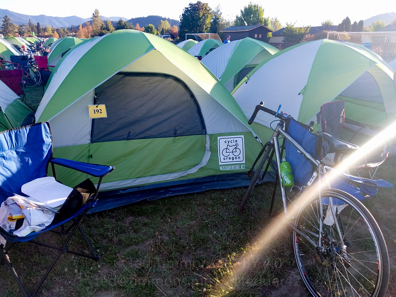Jeremy's tent. Ted is next door to the right.