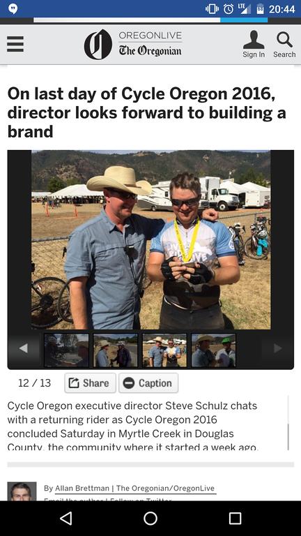 Jeremy and 'Cowboy' on Oregonlive.