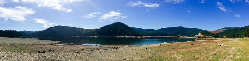 Low water level at Galesville Reservoir.