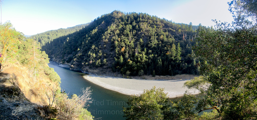 Looking down on the Rogue River.