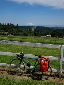 Bike selfie with Mt. Hood.