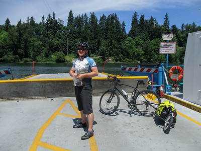 Jeremy on the Canby Ferry.
