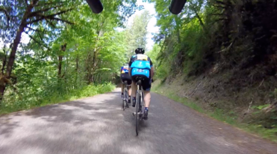 with a paceline in the backroads