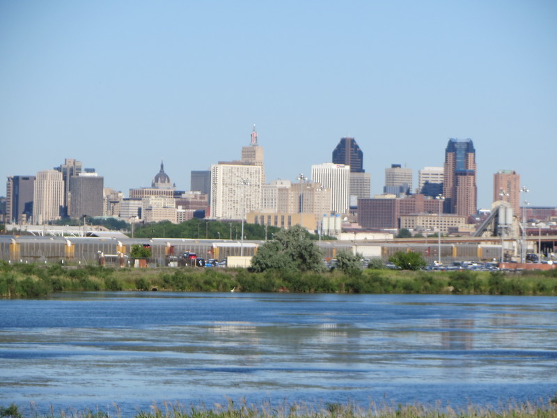 """$12M environmental project will build islands in St. Paul's Pig's Eye Lake<br /> <a href=""""https://www.twincities.com/2019/06/18/a-13-million-plan-to-build-islands-in-the-metro-intended-to-help-wildlife/"""">https://www.twincities.com/2019/06/18/a-13-million-plan-to-build-islands-in-the-metro-intended-to-help-wildlife/</a><br /> Mike Hahm, St. Paul Parks and Recreation Director, and Angie Tillges, from Great River Passage Initiative walk through Pig's Eye Regional Park in St. Paul Thursday, Oct. 19, 2017. In the background is Pig's Eye Lake, top left, and Battle Creek, behind them. (Jean Pieri / Pioneer Press)<br /> By Tad Vezner 