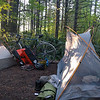 My (new) tent in camp. And my old bike.