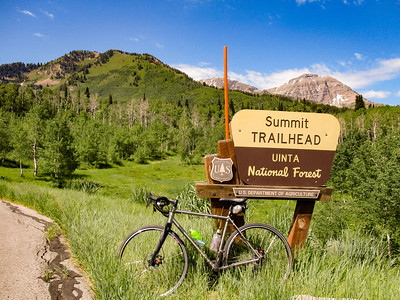 At the summit. Well, the summit trailhead. I'm at the pass.