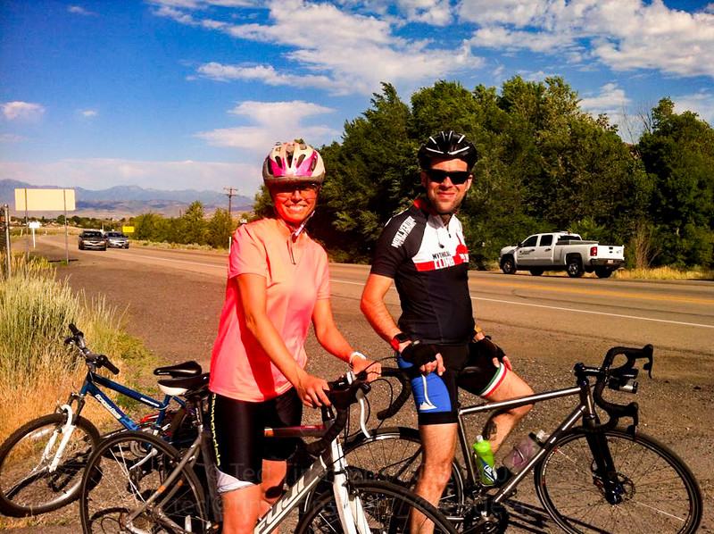 Photo at the end of the canal trail. Thanks for the ride and chat, Mary Ann! (photo owned by Mary Ann Nielsen)