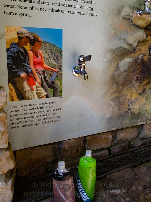 Yassss, water. At Timpanogos Caves.