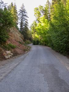 Narrow road. Uphill. Here we go.