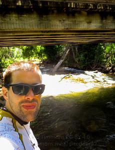 Standing in Diamond Fork (creek). So cold. OMG.