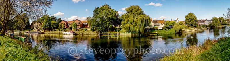 Bidford on Avon Riverside Panorama