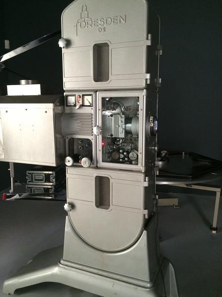 Arc lamp movie projector