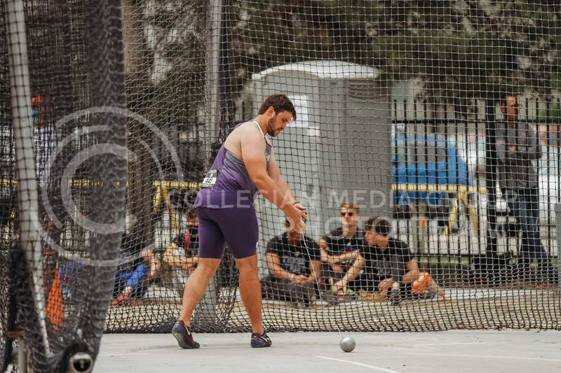 Senior Colin Echols prepares to throw during the first day of the Big 12 Track and Field Championships at R.V Christian Track. (Sophie Osborn   Collegian Media Group)